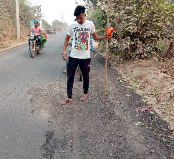 after three years of hard work the new constructed road started to crumble in two months