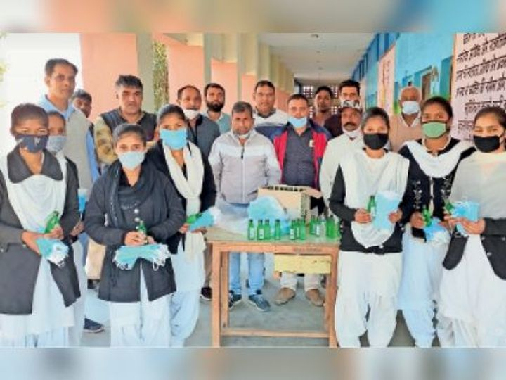 distributed sanitizers to students