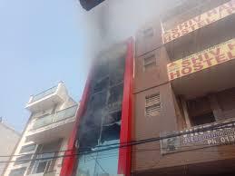 fire in shop goods burned fire brigade sonipat news