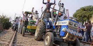 stop train farmer protest