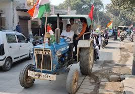 tractor yatra police villegers return sonipat news