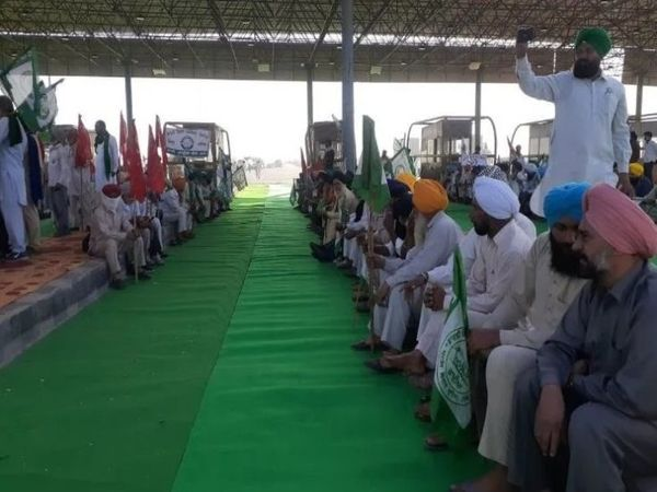 farmers agitation kmp expressway block for the next 24 hours section 144 enforced in areas adjoining highway